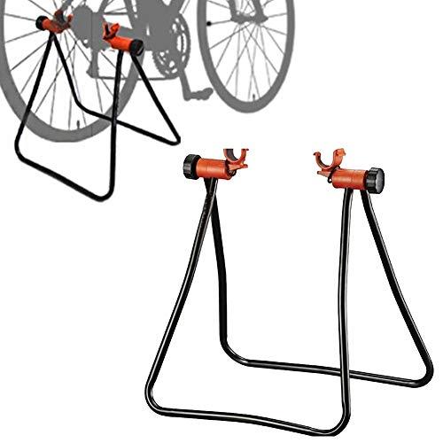 FSYG Unisex Acero Bicicletas Soporte Plegable De Altura Ajustable ReparacióN Piso Soporte De Ciclo Estacionamiento Uso Interiores Y Exteriores