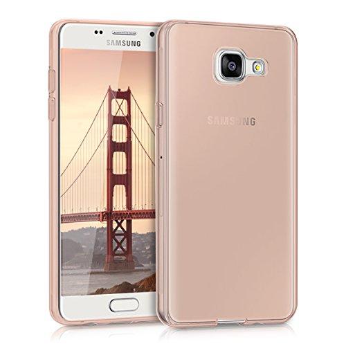 kwmobile Cover Compatibile con Samsung Galaxy A5 (2016) - Custodia Morbida in Silicone TPU - Crystal Case Custodia Flessibile - Oro Rosa