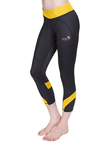 Baleaf Women's Workout Fitness Capri Legging