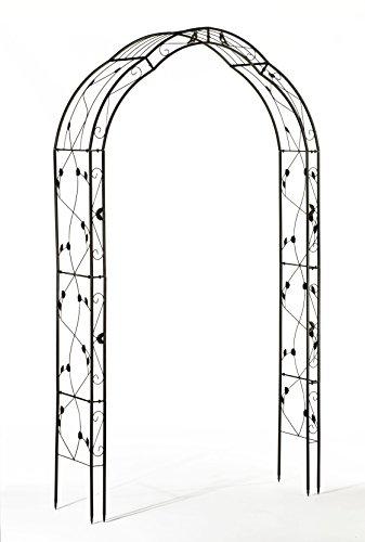 Gardenline Rosenbogen aus Metall | Durchgangshöhe 220 cm | zu Rosengang und Rosenlaube kombinierbar
