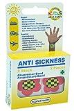 scarlet health   Akupressurband »Sea«, 1 Paar Akupressur-Armbänder gegen Übelkeit & Seekrankheit, für Erwachsene & Kinder, Anti-Übelkeitsband fürs Handgelenk, 2 elastische Bänder (Blume)