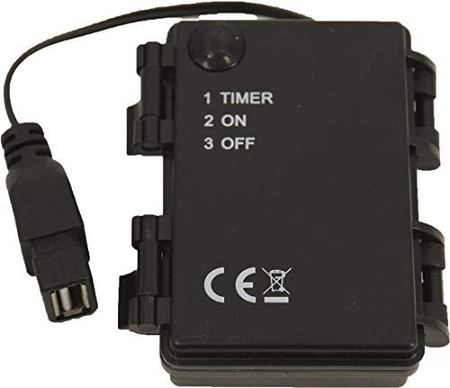 Dekop Krippenzubehör Batteriebox für 3X AA, ON/Off/Timer/mit USB-Anschluss, Kabel 10cm (444635100853)