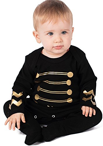 Hendrix Inspired Baby tutina/Jimi Hendrix Rock Jacket Cool Rock Star Baby outfit by Baby Moo S Rock metal Baby ragazze o ragazzi vestiti–Baby Gift Idea nero Black 6-12 mesi