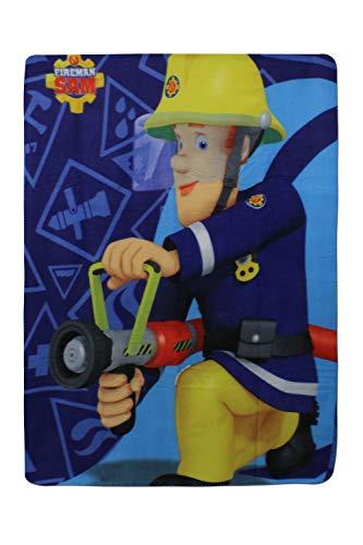 Feuerwehrmann-Sam Kinder Fleece-Decke Kuscheldecke 100 x 140 cm