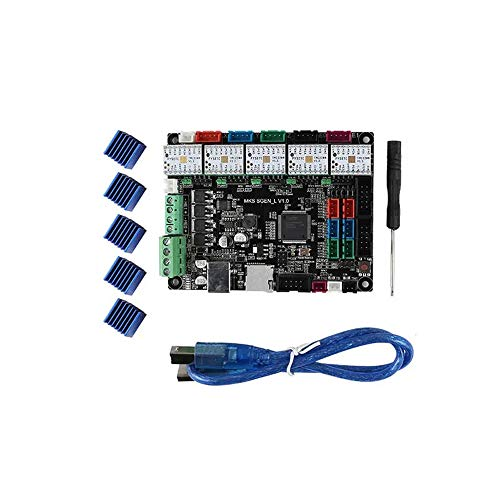 3D Printer Mainboard Open Source Mainboard Kit for 3D Printer Compatible Marlin/Smoothie Firmware Support Uart/SPI Mode 5Pcs TMC2208 Drivers + MKS SGEN L 32-Bit ARM for Connection and Operation