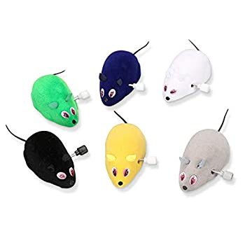 Lot de 6 souris à remonter ,Jeu de poursuite du chat et de la souris Jouets interactifs Animaux de compagnie pour chats Jouet mécanique pour chat et chien