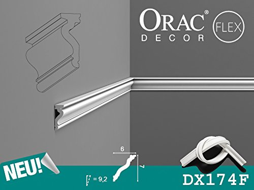 Orac Decor – Listones de pared Friesland listones | dx174 F | Flex listones | multifunktional | 200 x 2.2 x 6.0 cm