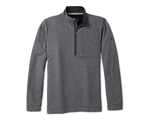 Smartwool Merino Sport Fleece 1/2 Zip Charcoal Heather LG