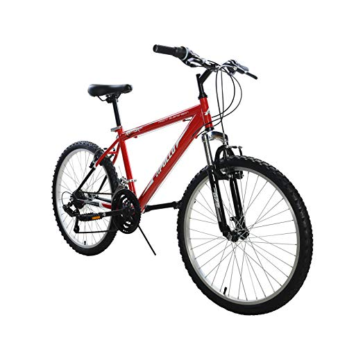 Apollo Raptor Hardtail Mountain Bike, 24 inch Wheels, 16 inch Frame, Boys' Bike, Red