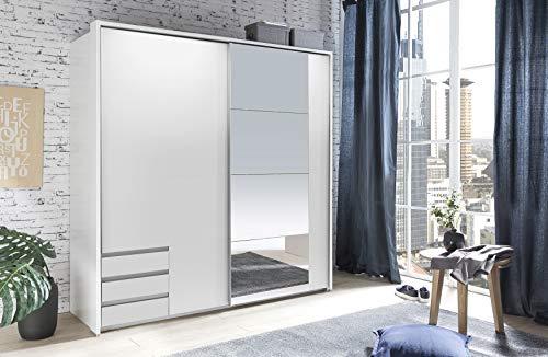 Wimex Kleiderschrank/ Schwebetürenschrank Emden, (B/H/T) 9 x 220 x 61 cm, Weiß