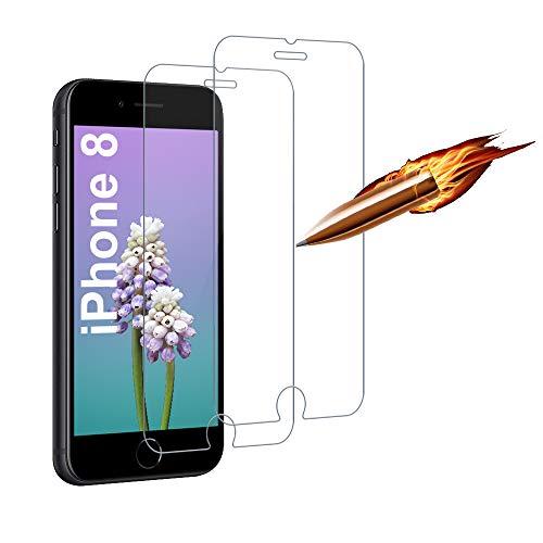 [2 Stück] Panzerglasfolie für iPhone SE 2020,Panzerglas Schutzfolie kompatibel mit iPhone 8/7/6/6s,Anti Fingerabdruck/HD Klar Folie, 9H Härte, Anti-Kratzen, Anti-Öl, Anti-Bläschen