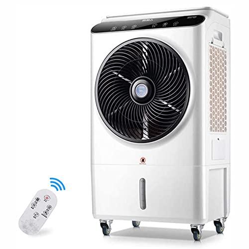 FC-Winter Refrigerador de Aire portátil Aire Acondicionado Ventilador Control Remoto móvil, para la Industria del hogar y para el Comercio, el Tanque de Agua de 48L, 105W