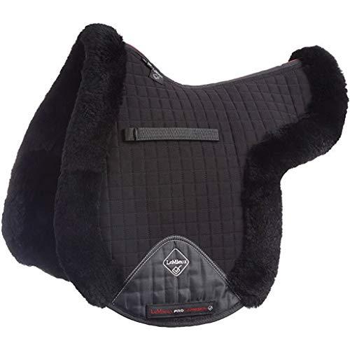 LeMieux Lammfell GP/Jumping komplett gefüttert Satteldecke L Black Wool/Black Fabric