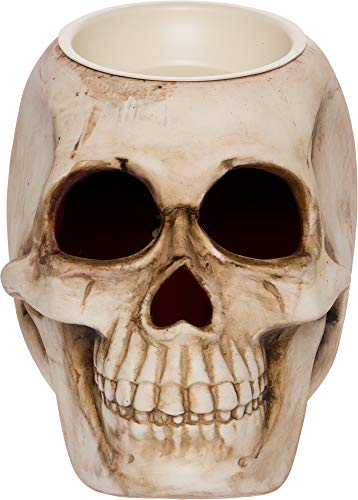 Mindful Design Skull Wax Warmer - Wax Melter Air Freshener and Night Light Lantern, Ideal for Bedrooms, Bathrooms, & Living Rooms