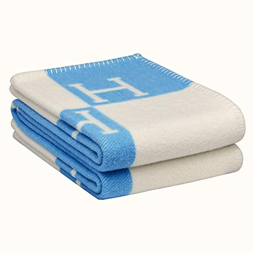 ZCFXGHH sjaal reisdeken verdikt, warme bankdeken, H Letter, 5 kleuren, 140cmX170cm
