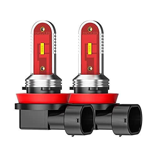 HSMIN 2 Unids H8 LED Coche LED Luces Antiniebla H7 H11 9005 HB3 9006 HB4 Bombilla CSP Lámpara De Cabeza Super Brillante Lámpara De Niebla 6000K Automoción Blanca