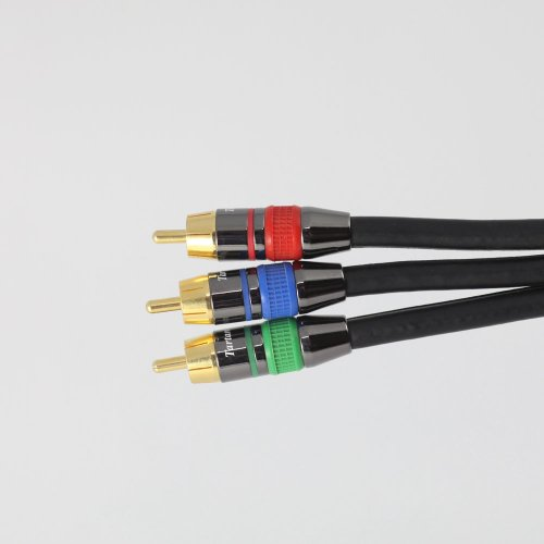 6 Foot Component Video Cable, RCA/RCA; Tartan Cable Brand