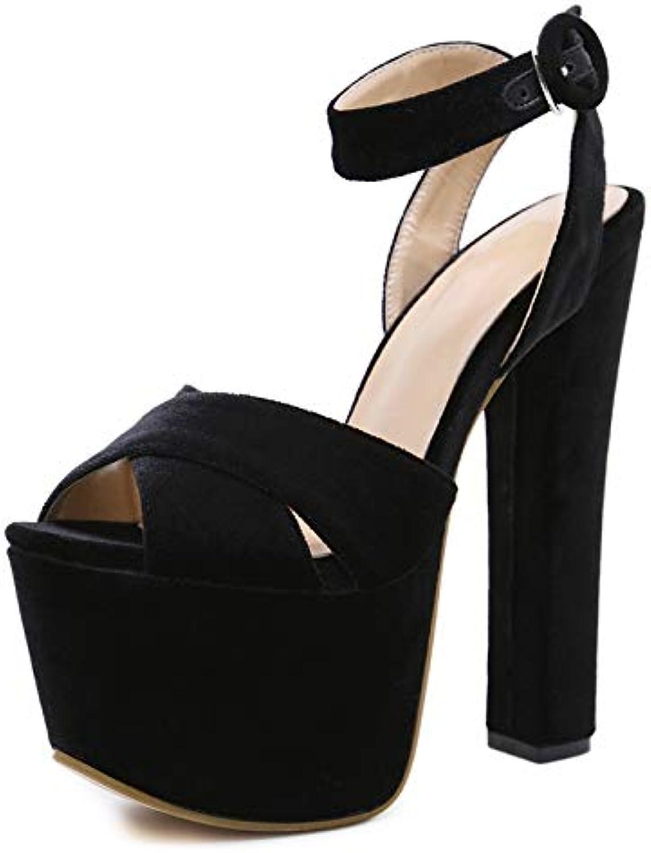 KCatsy Women's Peep Toe Platform Open Toe Sandals London Party High Heels