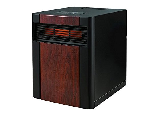 Holmes Extra Large Whole Room Wood Panel Infrared Indoor Heater with Wheels and Remote Control