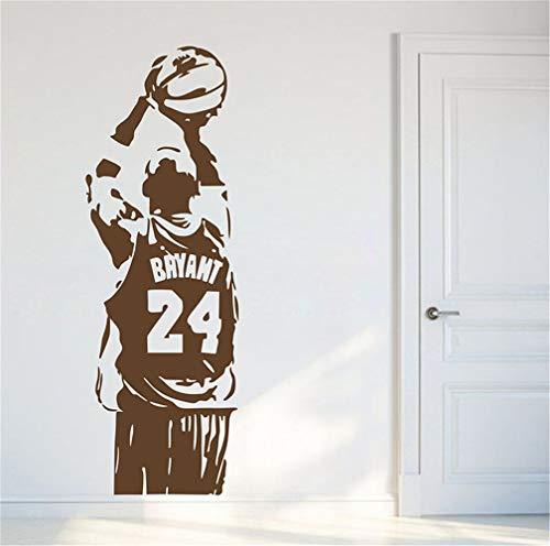 adesivo murale 3d adesivo muro Nba Kobe Bryant Basketball Fans Room Decor Decor per soggiorno per camera da letto per camera dei bambini della scuola materna