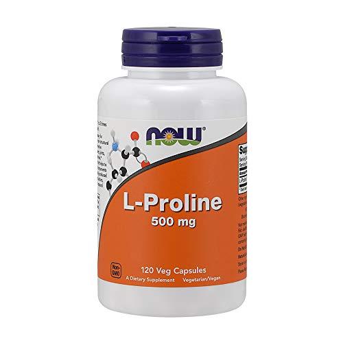 Now Foods L-Proline 500mg Aminosäure Kollagenproduktion 120 Kapseln