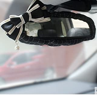 LadyCrystal stylish square pattern with bowknot covers girl's car interior accesories (Price for1pc (Rearview Mirror cover)