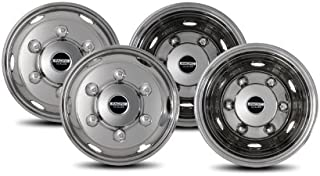Pacific Dualies 45-1960 19.5 inch 6 Lug Stainless Steel Wheel Simulator Kit for 1995-2019 Isuzu FRR/NPR/NQR/FSR Lo-Pro and Chevy GMC W4500/W5500