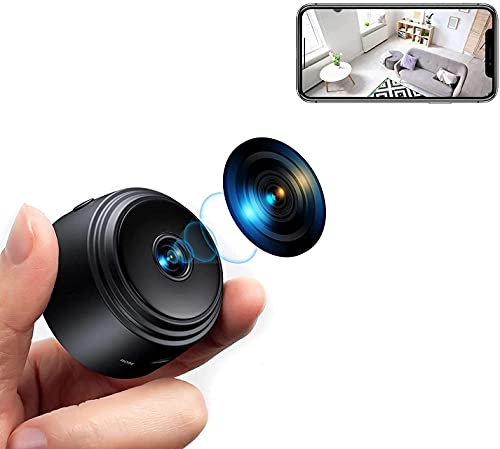 Wireless Mini Camera, Nanny Video Security Cam with Night Vision and Motion Detection, Built-in Battery, No WiFi Need, Wireless Technology for Phone App Monitor, Pets/Baby Monitor