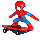 MODELTRONIC Coche RC superhéroes de Juguete Patinete RC de Spiderman Giratorio Skateboard Marvel Oficial 2.4Ghz con Sonidos antivuelco M021