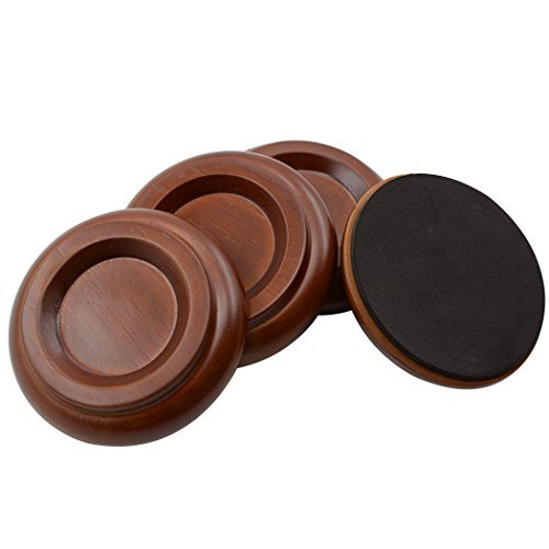 Sound harbor Piano Caster Cups Upright Piano Caster Cups Wood Coasters Cups