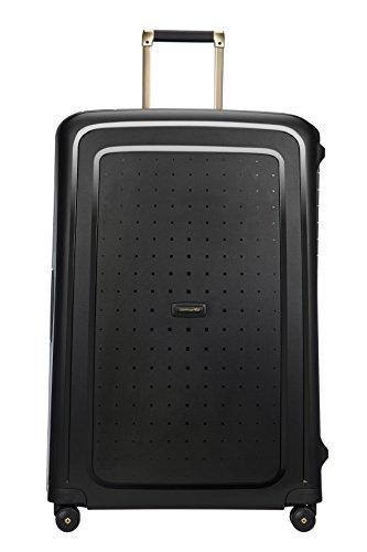 SAMSONITE S'Cure DLX Spinner 81, 5 KG Hand Luggage, 81 cm, 138 liters, Black (Black/Gold Deluscious)