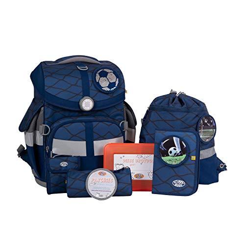 School-Mood Schulranzen-Set Timeless Air - Schultaschen Set für Jungen & Mädchen - Schulrucksack für die Grundschule (Max)