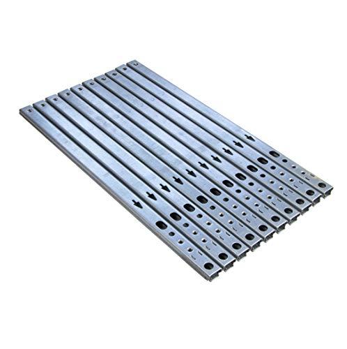 Gedotec Schubladen-Schiene Teilauszug 17 mm Teleskopschiene Küche Kugelauszug für Möbel   Stahl verzinkt   Auszugsschiene kugelgelagert   Tragkraft 12 kg   Länge: 310 mm   10 Stück - Schrank-Auszüge