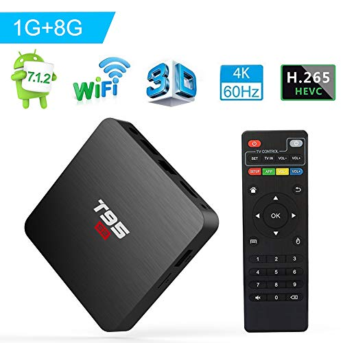 Android TV Box, Android 7.1 TV Box T95 S2 1GB RAM 8GB...