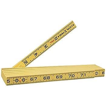 Klein Tools 910-6 Folding Ruler 6-Foot Durable Fiberglass Inside Reading