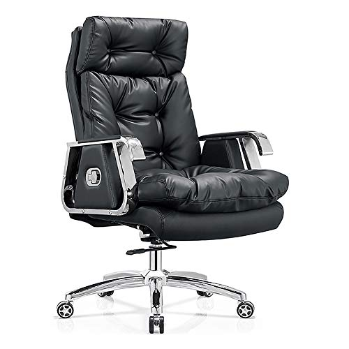 KOKOF bureaustoel, lederen computer stoel Boss Thuis bureaustoel Reclining Lift Office Swivel stoel