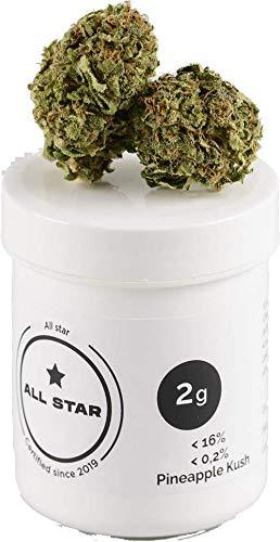 ALL STAR Aromatee *NEU*, Premium Qualität, Made in Spain, Naturbelassen, Vegan & Laborgeprüft, natürlicher Geschmack, Neutrale Verpackung (Pineapple Kush, 2 g)