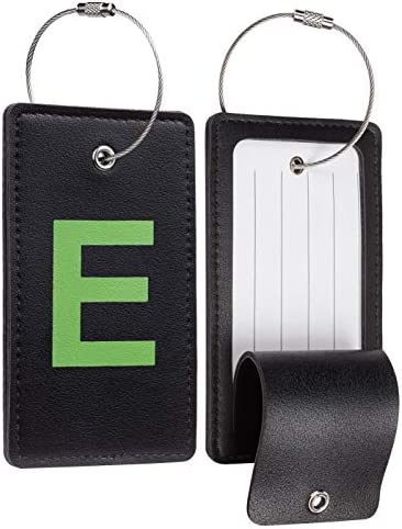 Travelambo Initial Luggage Tag Baggage Bag Tags Travel Fully Bendable Tag Stainless Steel Loop product image