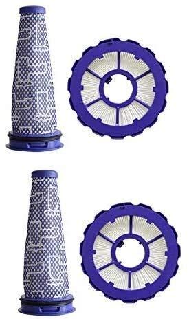QIBIN Piezas de aspiradora de repuesto Hepa Post filtro y kit de pre filtro para DC50, pieza de repuesto 965081-01 y 965080-01