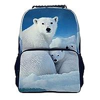 シロクマ ペ Polar Bear多機能 リュック リュックサック バックパック 大容量 ビジネスリュック ラップトップバック 学生 バッグ スクエア リュック 耐衝撃 人気 通勤 男女兼用