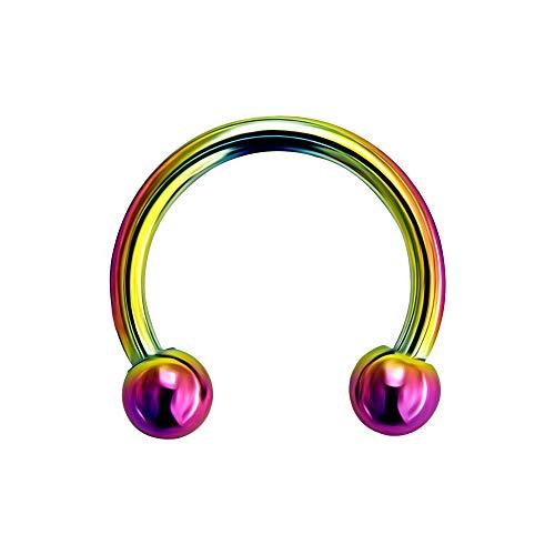 16 Calibre - 6 mm de Longitud Arco Iris anodizado G23 Grado