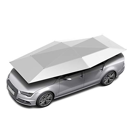 JYWAJAA Plegable Portátil De Protección Coche Toldos Carpas Azotea Cubierta De Coches Automáticos para Camiones/Batería Extraíble Es Fácil De Carga/Succión Estupenda Ventosa,Silver Gray