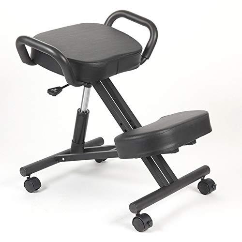 HT&PJ Taburete ergonómico con ángulo ajustable para aliviar la fatiga para moverse, apto para uso doméstico y oficina (negro)