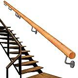 Soporte para pasamanos de escaleras - Kit completo.para escaleras interiores y exteriores, escaleras redondas de diseño de madera maciza Escalera Pasamanos Barandilla Barandilla Soporte 200