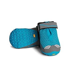 RUFFWEAR, Grip Trex Outdoor Dog Boots with Rubber Soles for Hiking and Running, Blue Spring, 2.5 in (2 Boots)