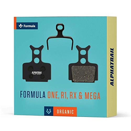 Alphatrail Bremsbeläge - Formula One I Organischer MTB Bremsbelag mit hoher Bremskraft & Laufleistung I 100% Passgenau für Fahrrad Scheibenbremse von Formula Mega RX R1 R1R T1 C1 Cura RO MegaOne Oval