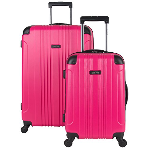 "Kenneth Cole Reaction Out Of Bounds 2-Piece Lightweight Hardside 4-Wheel Spinner Luggage Set: 20"" Carry-On & 28"" Checked Suitcase, 2-Piece Set (20"" & 28""), Magenta"