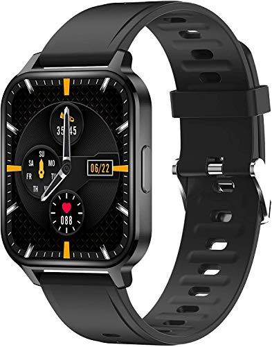 Smartwatch, 1.7 Pulgadas Reloj Inteligente Hombre, Reloj Deportivo con Pulsómetro, Cronómetro, Presión Arterial, Calculadora, Monitor de Sueño, Impermeable IP67 Fitness Tracker para Android iOS
