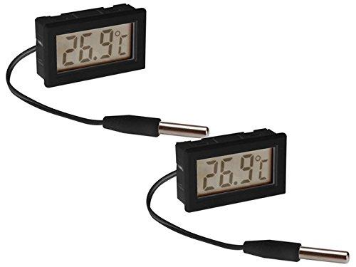 Juego de termómetro digital empotrable con sonda de temperatura, termómetro interior/exterior