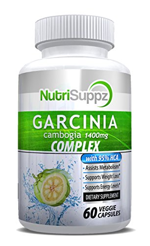 100% Pure Garcinia Cambogia 95% HCA Ultra 1400mg, Appetite Suppressant, Weight Loss, Belly Fat Burner, Weight Loss Pills, Lose Weight Fast for Men Women, Fat Burner, Diet Pills